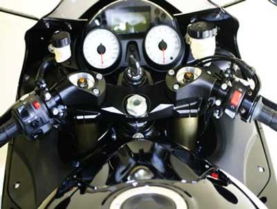 ZX14R HC2614K HeliBars Tour Performance handlebar risers for Kawasaki ZZR1400